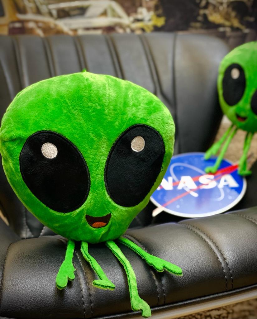 Almofada Alien UFO feliz: 30x25cm - EV