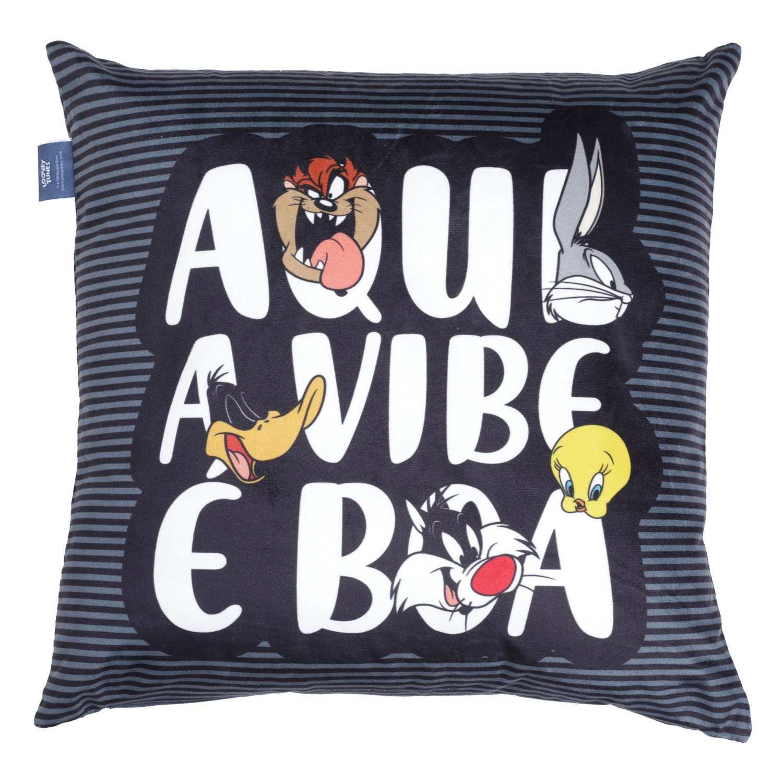 Almofada Aqui A Vibe É Boa: Looney Tunes - Urban