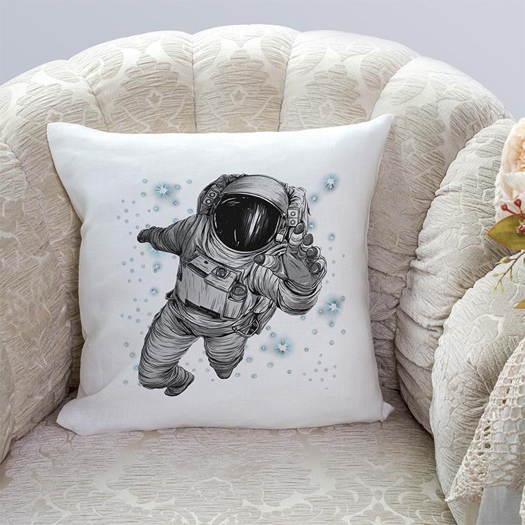Almofada Astronauts Space Nasa Astronauta (Branca) - EV