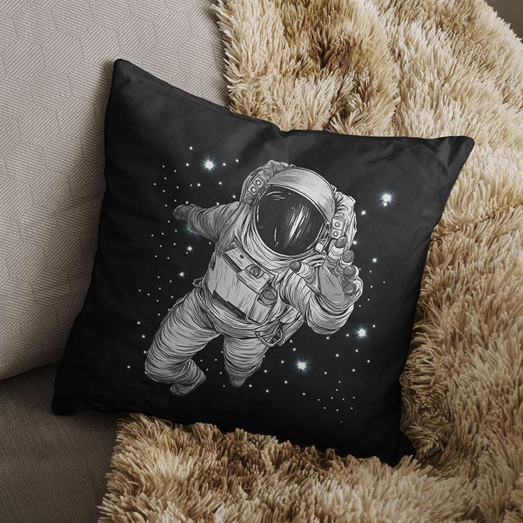 Almofada Astronauts Space Nasa Astronauta (Preta) - EV