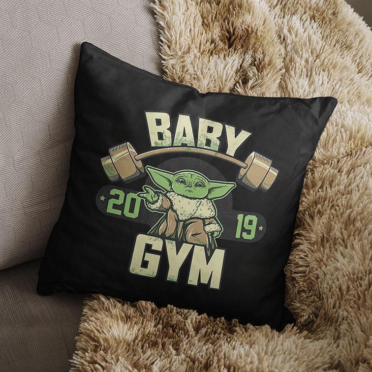 Almofada Baby Yoda GYM Fitness: Star Wars (Preta) - EV
