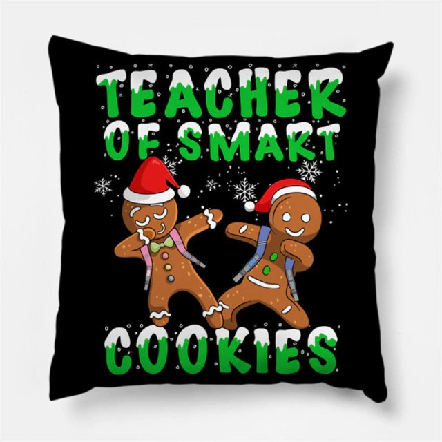 Almofada Biscoito Teacher Of Smart Cookies Natal Christmas: Sherek - MKP