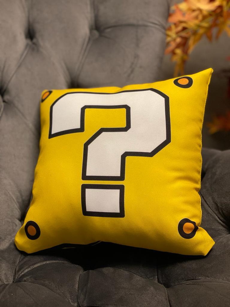 Almofada Bloco de Interrogação Amarelo: Super Mario Bros