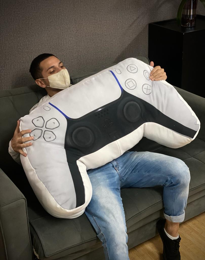 Almofada Controle PlayStation 5 Branca (Grande) - EV