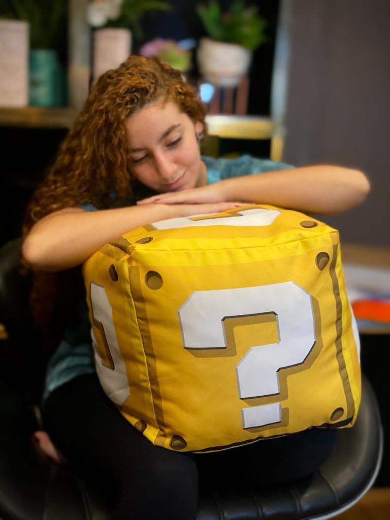 Almofada Cubo Interrogação (Big Size): Super Mario Bros