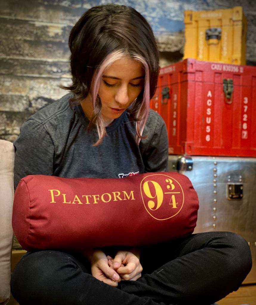 Almofada Estação 9 3/4 (Plataforma 9 3/4): Harry Potter