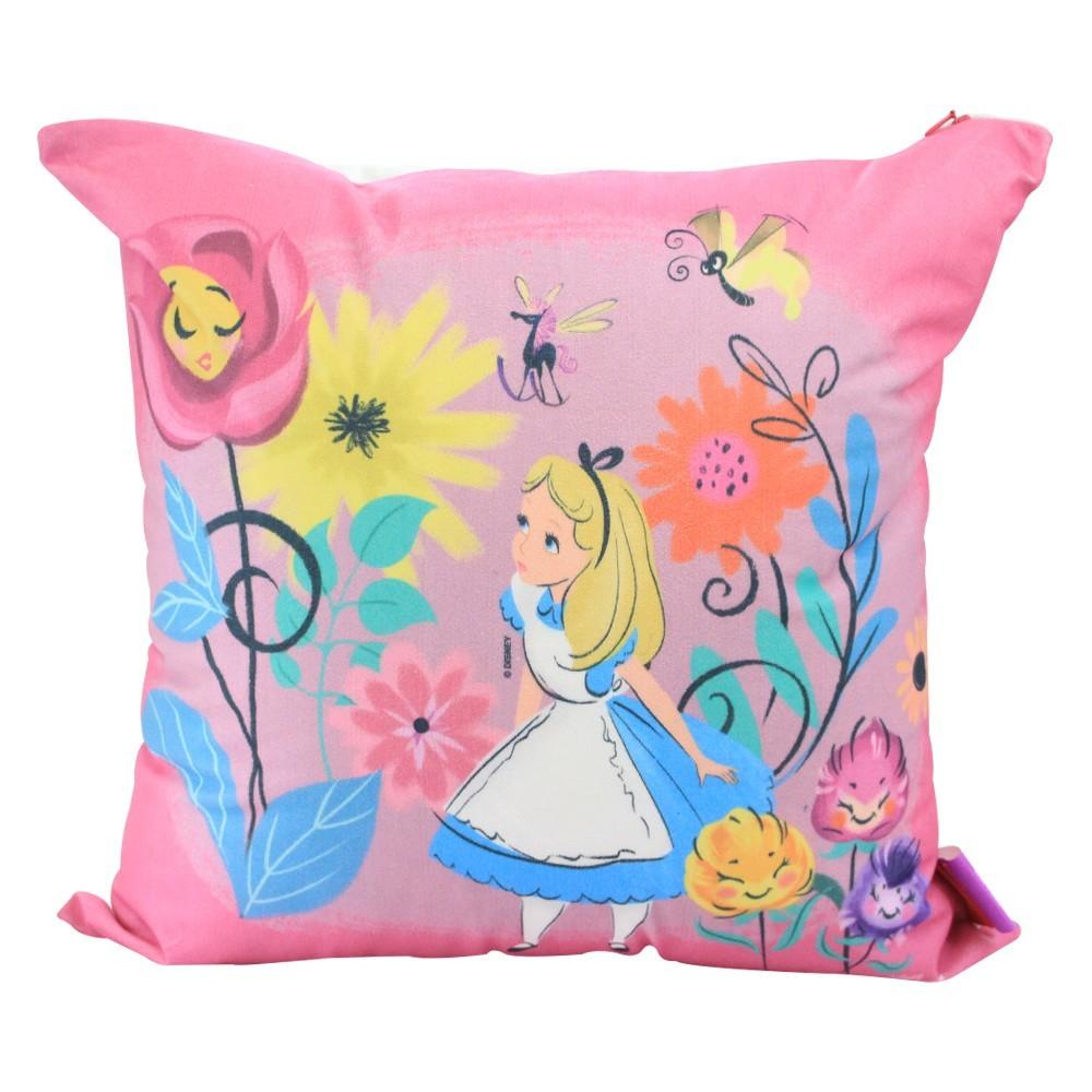 Almofada Fibra Veludo 40X40cm Alice Floral - Zona Criativa