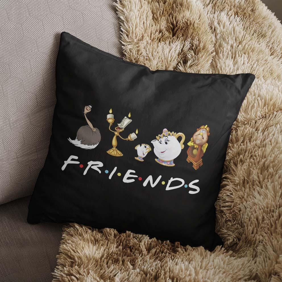 Almofada Friends Personagens Disney (Preta) - EV