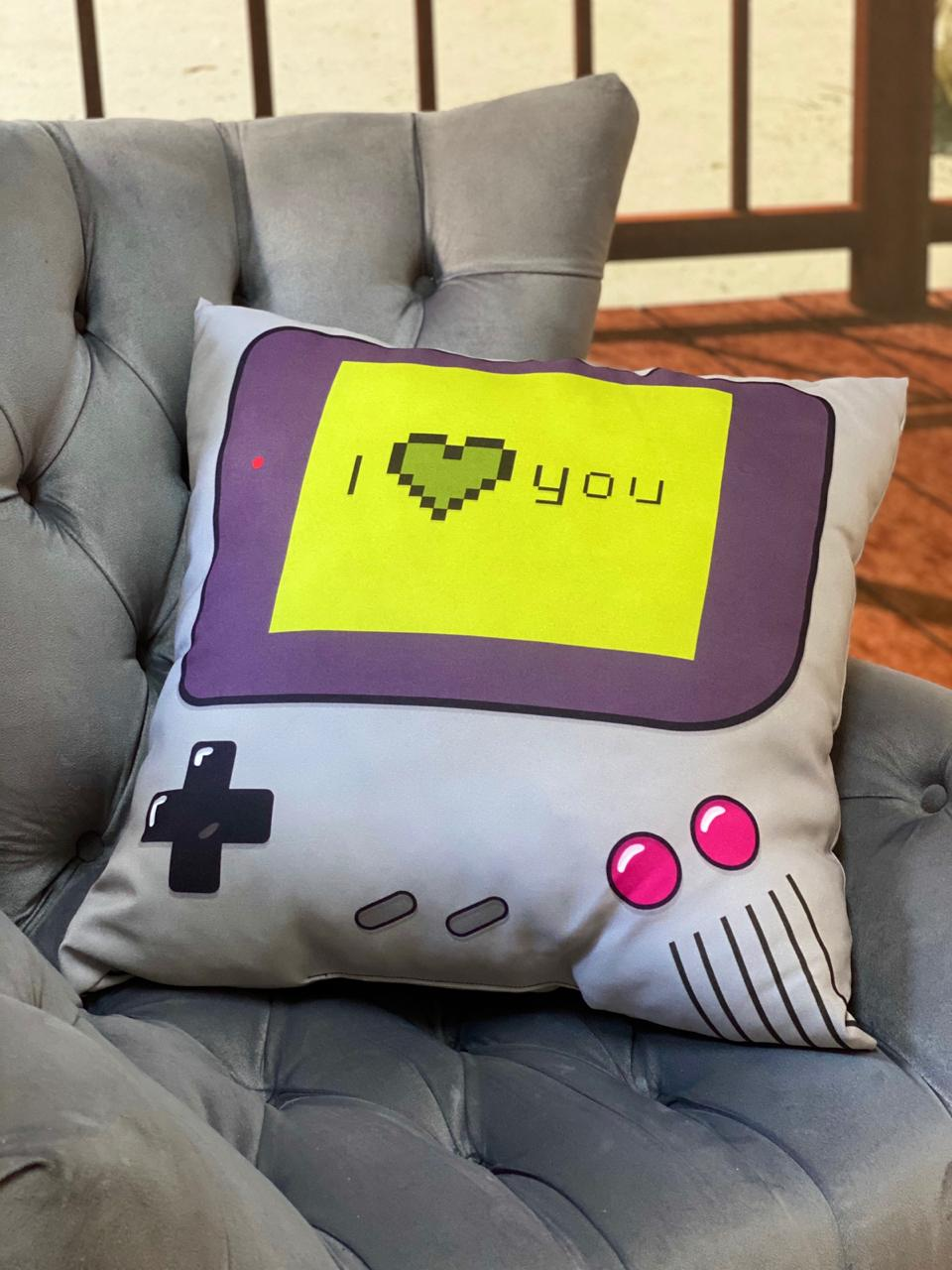 Almofada Games I heart you: Game Boy- SD