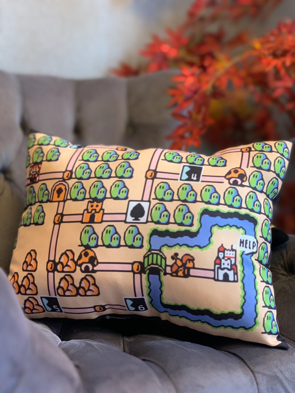 Almofada Games Mapa Super Mario 3 NES - SD