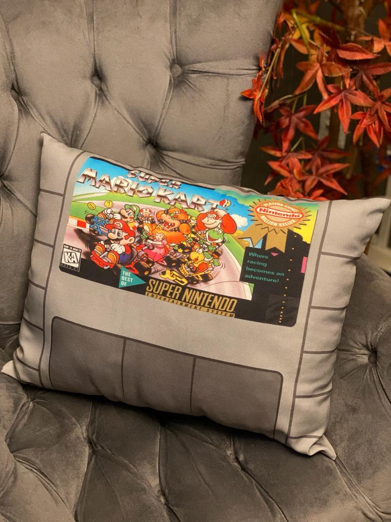 Almofada Games Super Mario Kart Cartucho SNES - SD