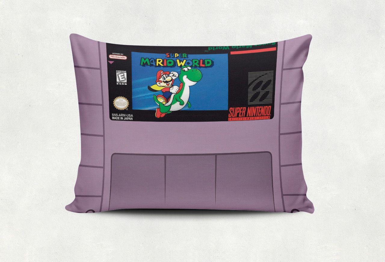 Almofada Games Super Mario World Cartucho  SNES - SD