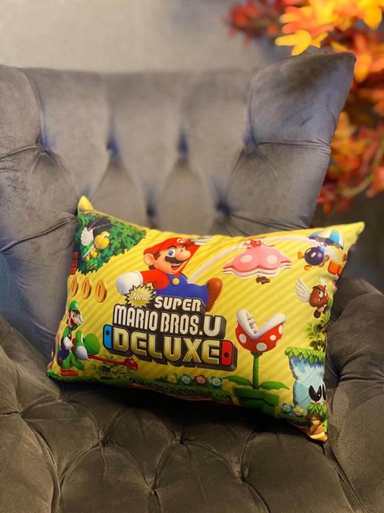 Almofada Geek: New Super Mario Bros U. Deluxe