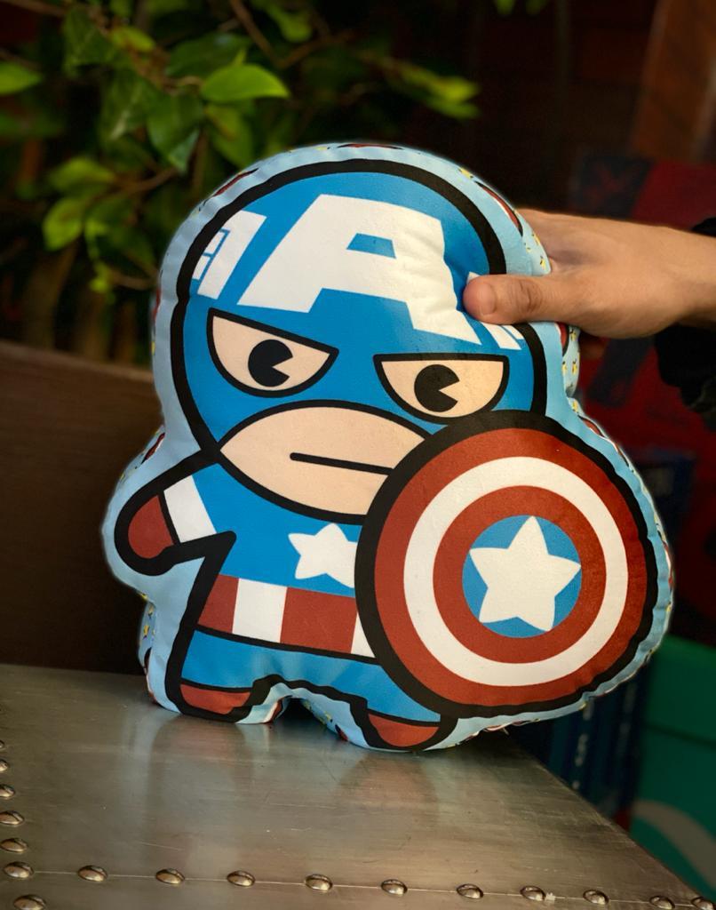 Almofada Geek Personagem Capitão América: Vingadores Avengers Marvel