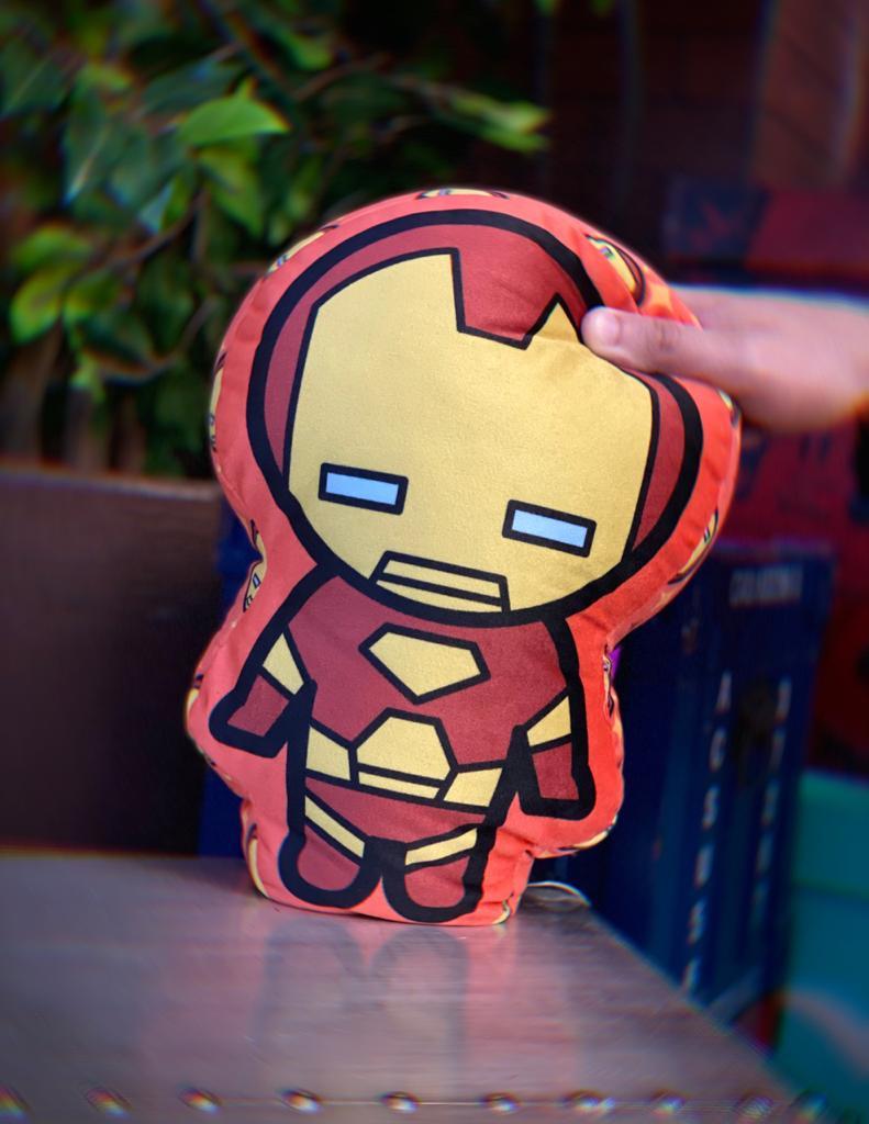 Almofada Geek Personagem Homem De Ferro Iron Man Tony Stark: Vingadores Avengers Marvel