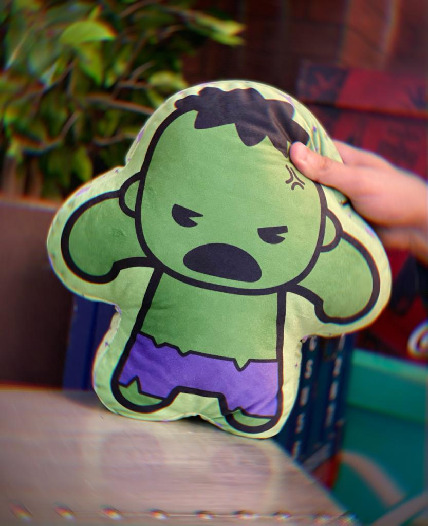 Almofada Geek Personagem Hulk: Vingadores Avengers Marvel