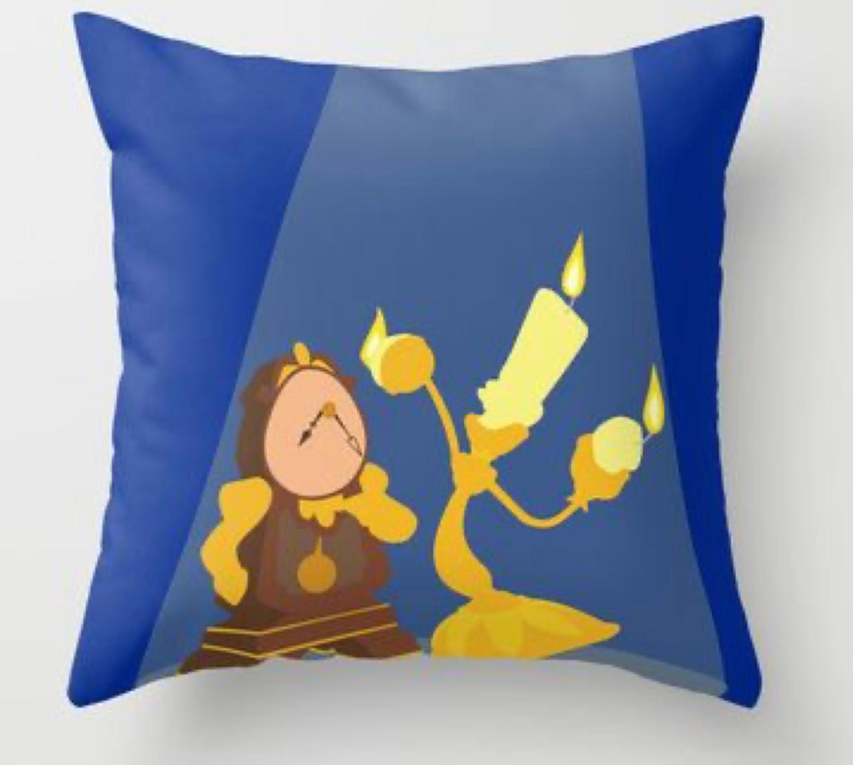 Almofada Geek Personagem Lumiere e Horloge: Bela E A Fera - Disney