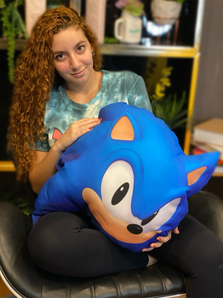 Almofada Geek Rosto Sonic: Sonic The Hedgehog