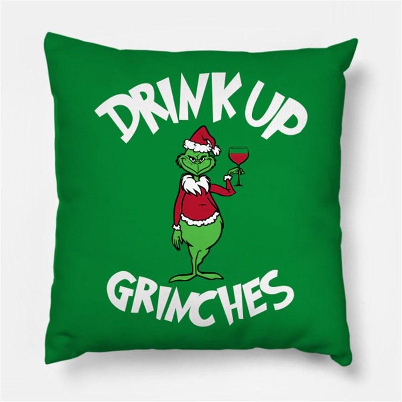 Almofada Grinch Drink Up Natal Christmas: O Grinch - MKP