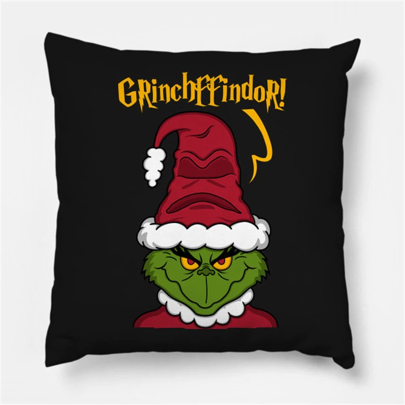 Almofada Grinch Grinchffindor Natal Christmas: O Grinch Harry Potter - MKP