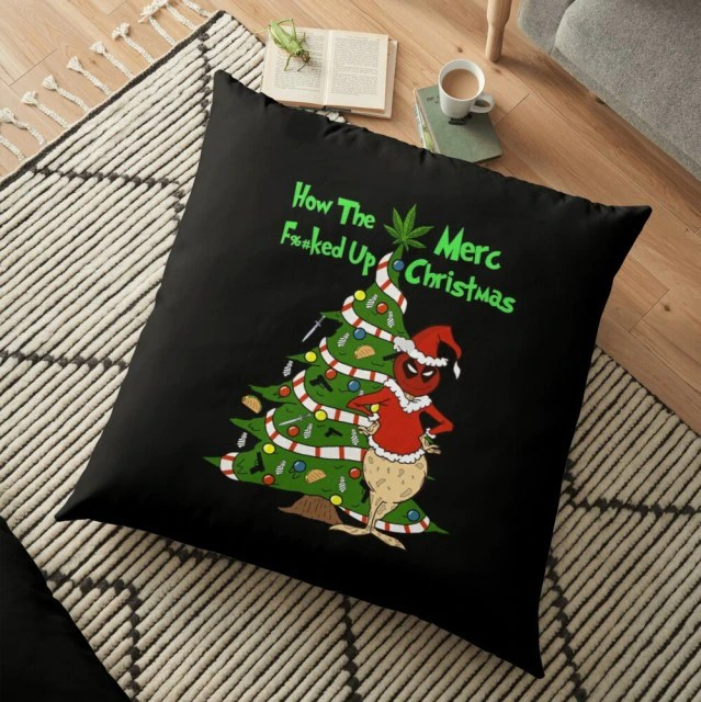 Almofada Grinch How The Merc Fucked Up Christmas Deadpool Natal Christmas: O Grinch - MKP