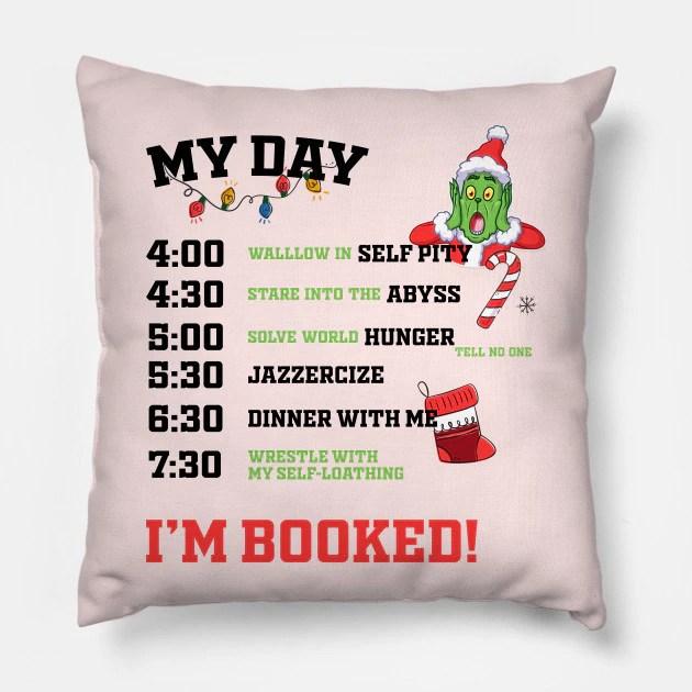 Almofada Grinch My Day I´m Booked Natal Christmas: O Grinch - MKP