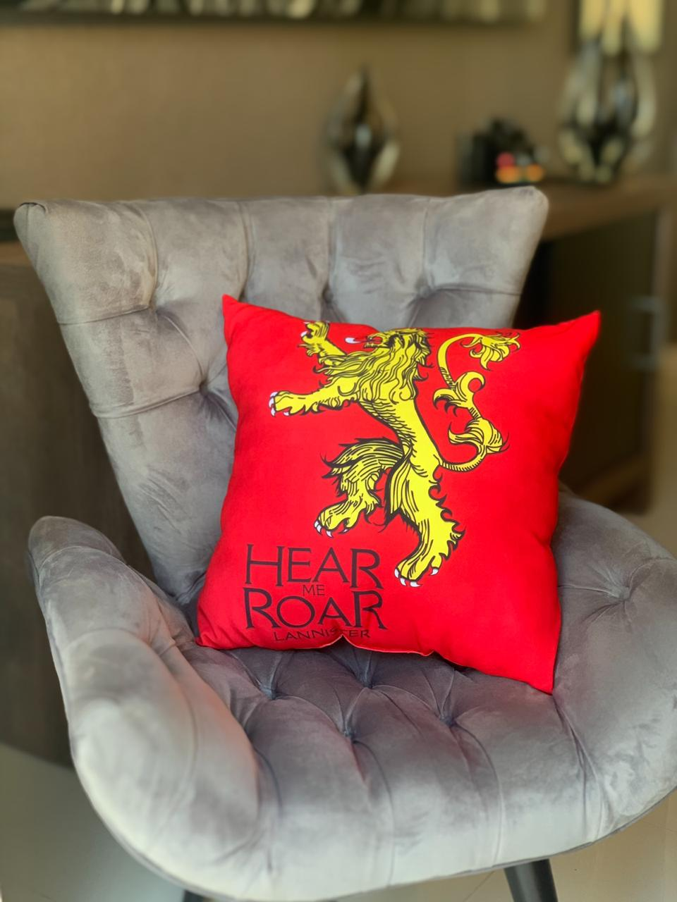 Almofada Hear me Roar Lannister - Game Of Thrones