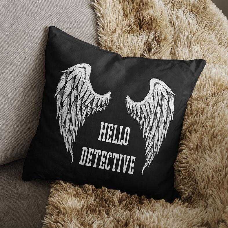 Almofada Hello Detective The Devil Lucifer Morningstar Netflix (Preta) - EV
