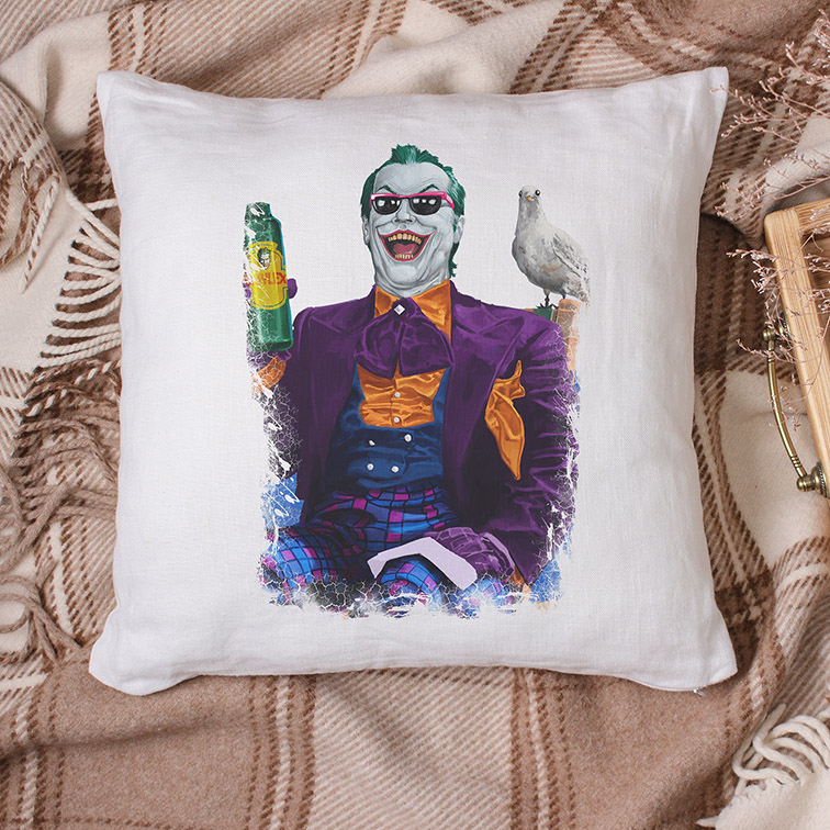 Almofada Jack Nicholson's Joker is About the Best One Out There: Joker Coringa (Branca) - EV