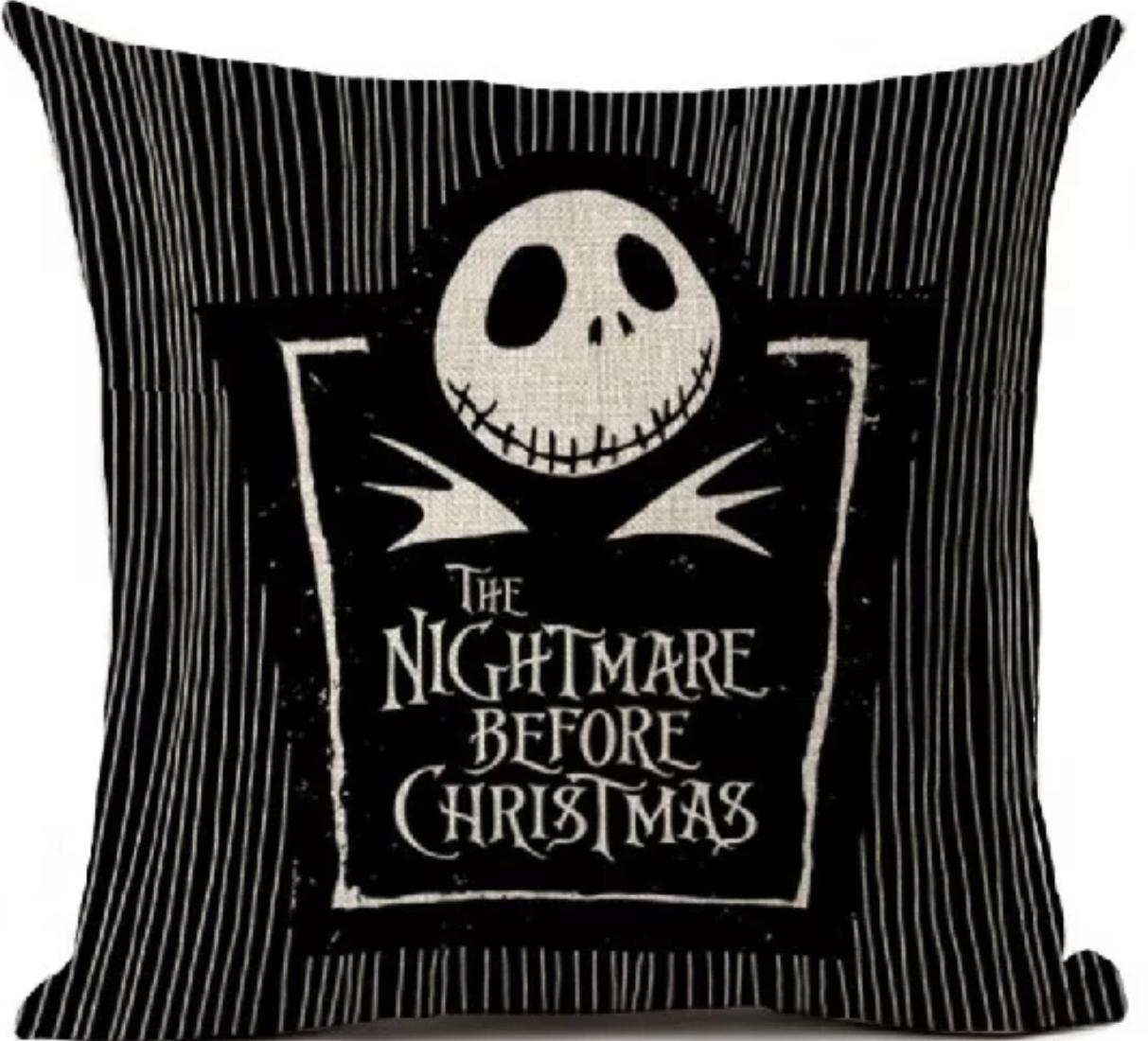 Almofada Jack Skellington The Nightmare Before Christmas O Estranho mundo de Jack (Preta)