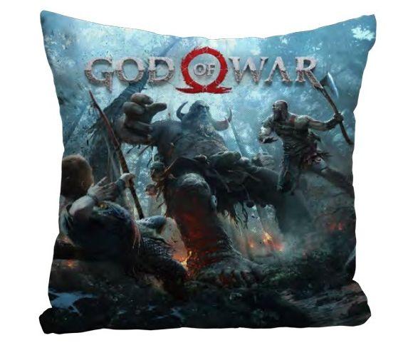 Almofada Kratos & Atreus Vs Troll: God of War