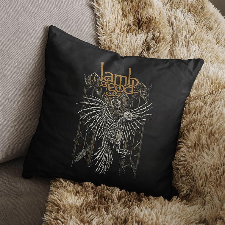 Almofada Lamb Of God Heavy Metal (Preta) - EV
