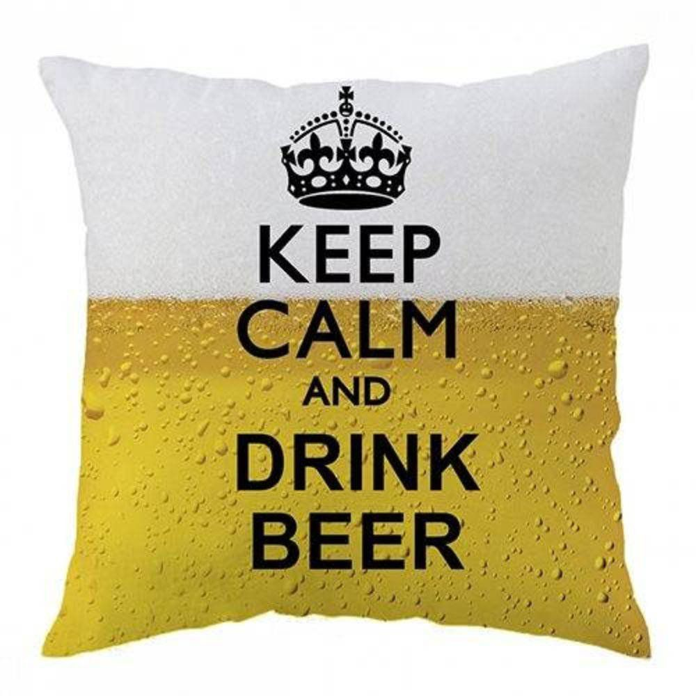 Almofada Média Keep Calm and Drink Beer