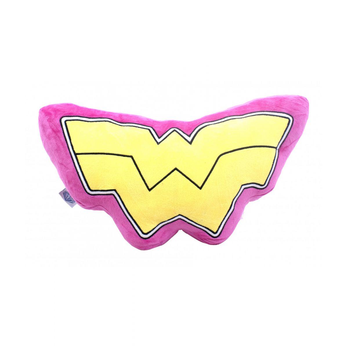 Almofada Mulher Maravilha (Wonder Woman) Rosa com Logo