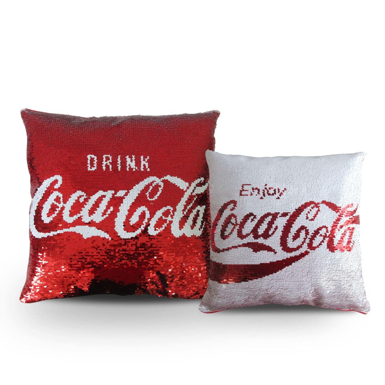 Almofada Paetê (Double-Face): Coca-Cola - Urban