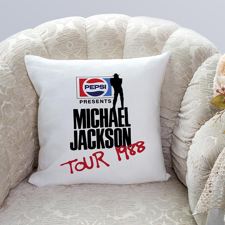 Almofada Pepsi Presents Michael Jackson Tour 1988 (Branca) - EV