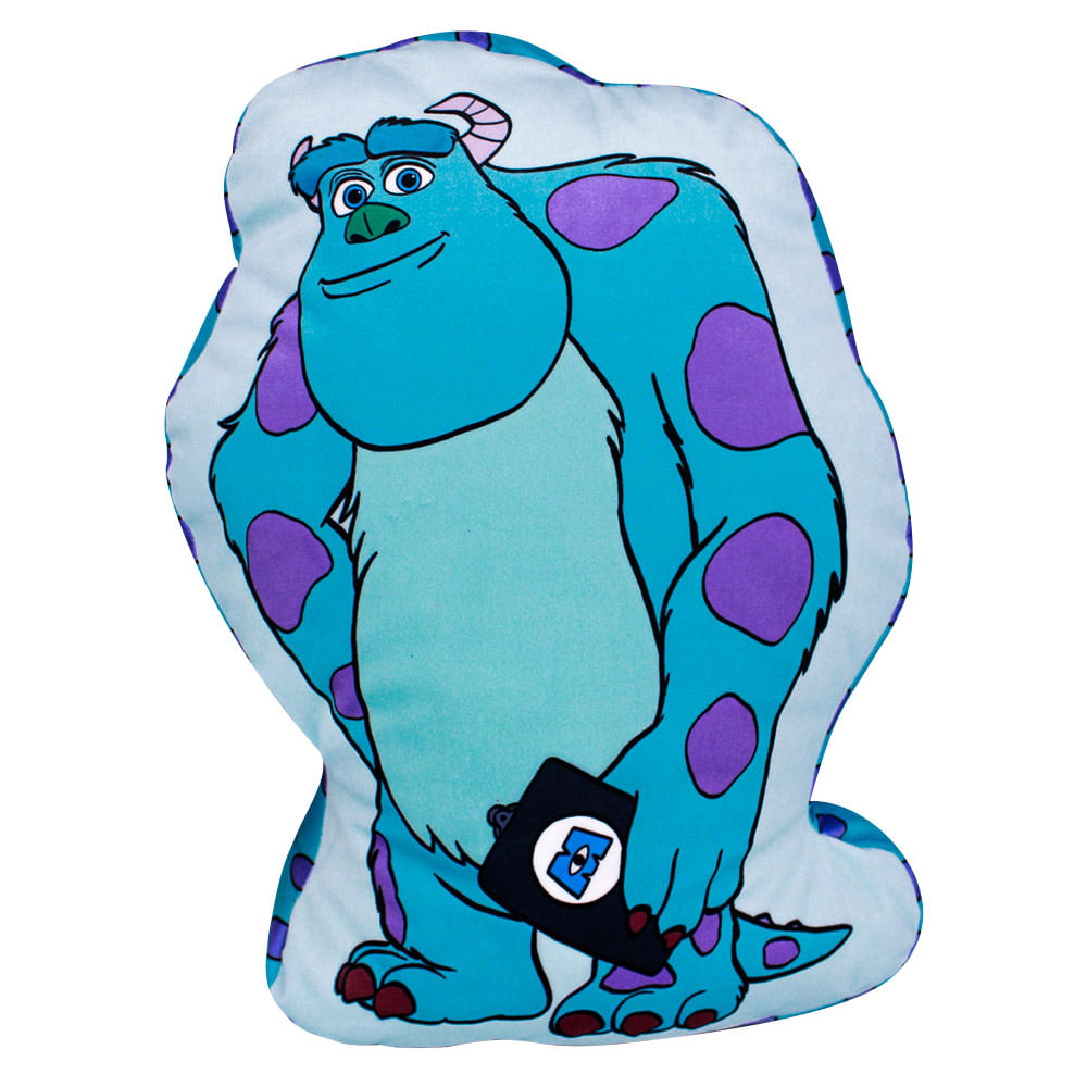 Almofada Personagem James P. Sullivan Sulley: Monstros S.A - Disney Pixar
