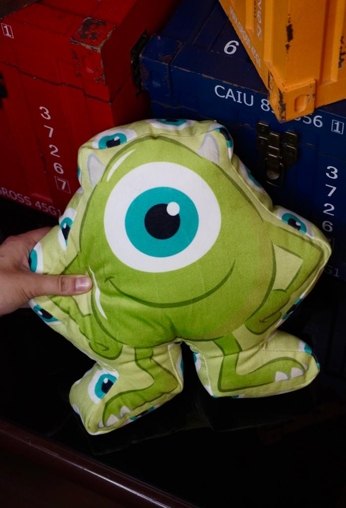 Almofada Personagem Mike Wazowski: Monstros S.A - Disney Pixar