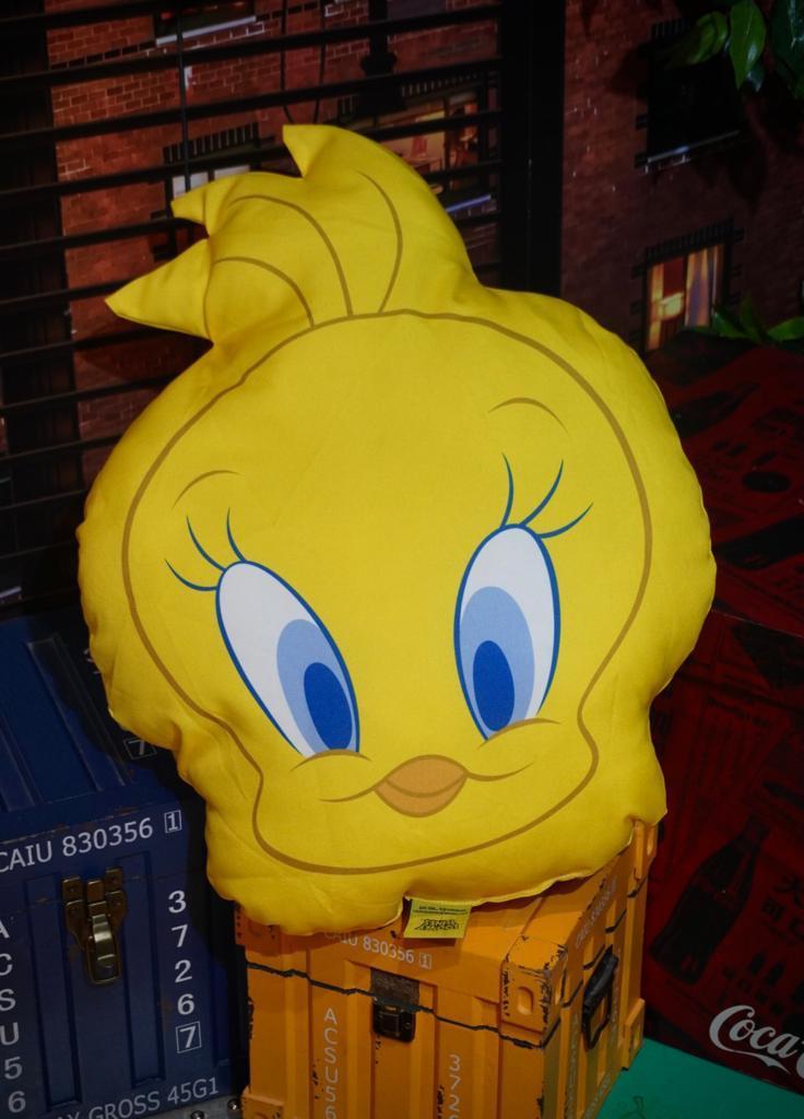 Almofada Personagem Piu-Piu Tweety Bird : Piu-Piu e Frajola - Looney Tunes
