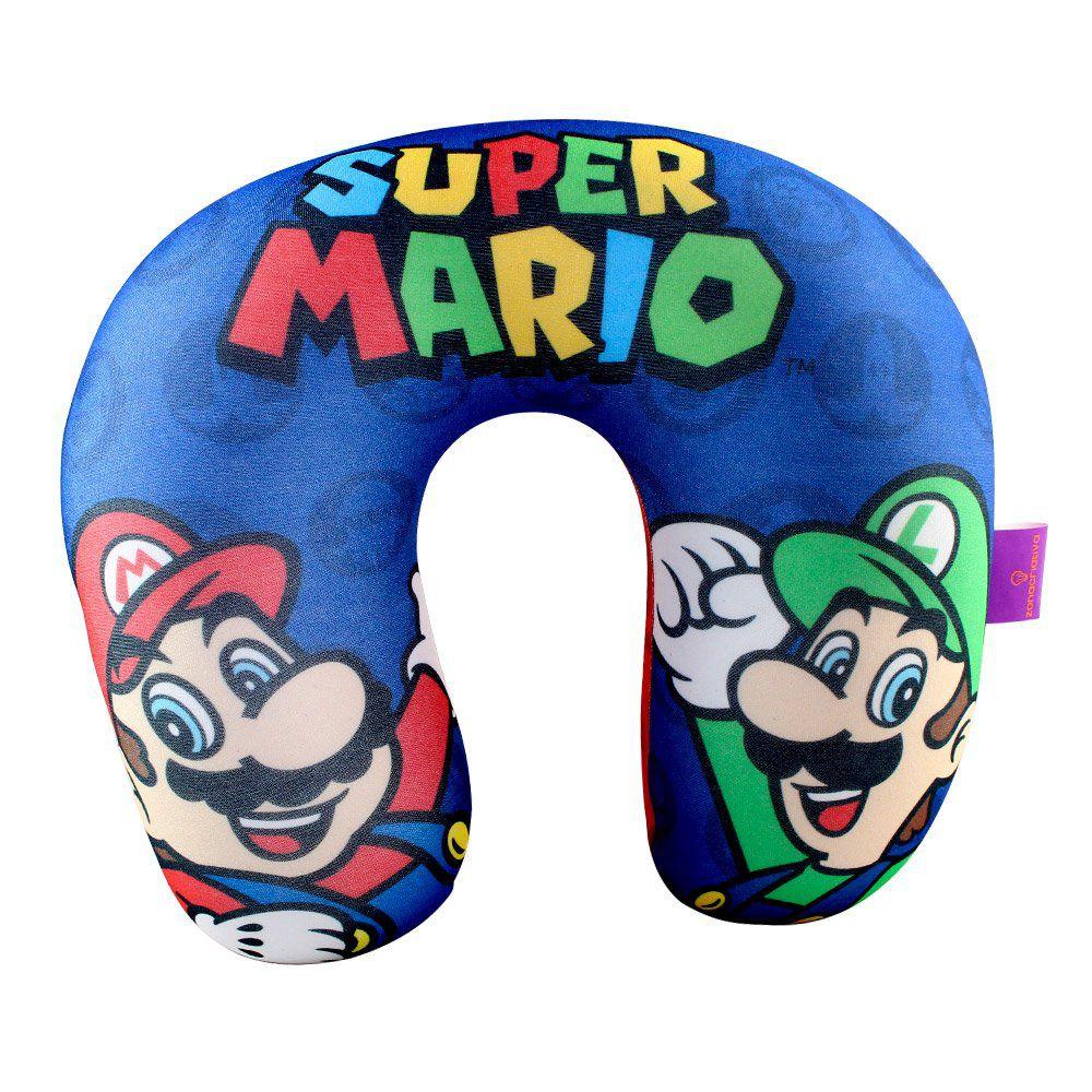 Almofada Pescoço Mario e Luigi: Super Mario