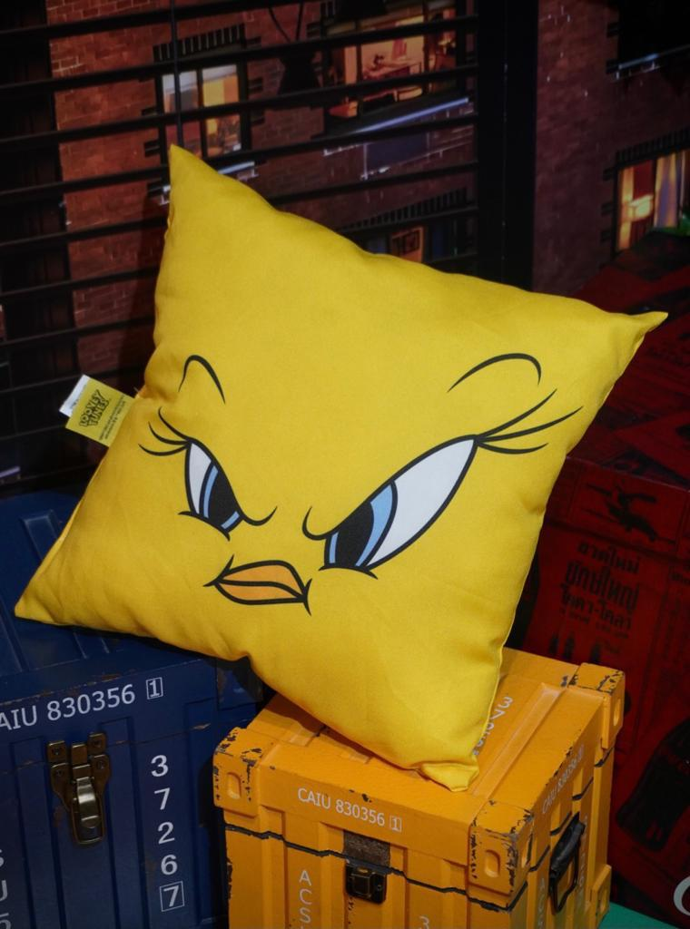 Almofada Piu-Piu Tweety Bird Nervoso: Piu-Piu e Frajola Pequeno - Looney Tunes