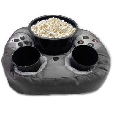 Almofada Porta Pipoca Controle de Vídeo Game