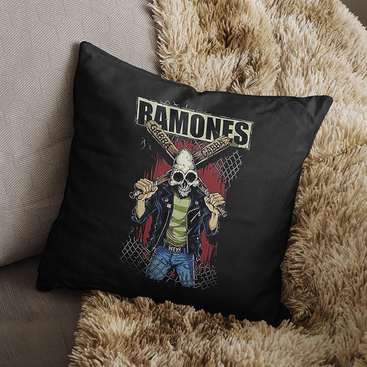 Almofada Ramones Punk Rock Queens (Preta) - EV