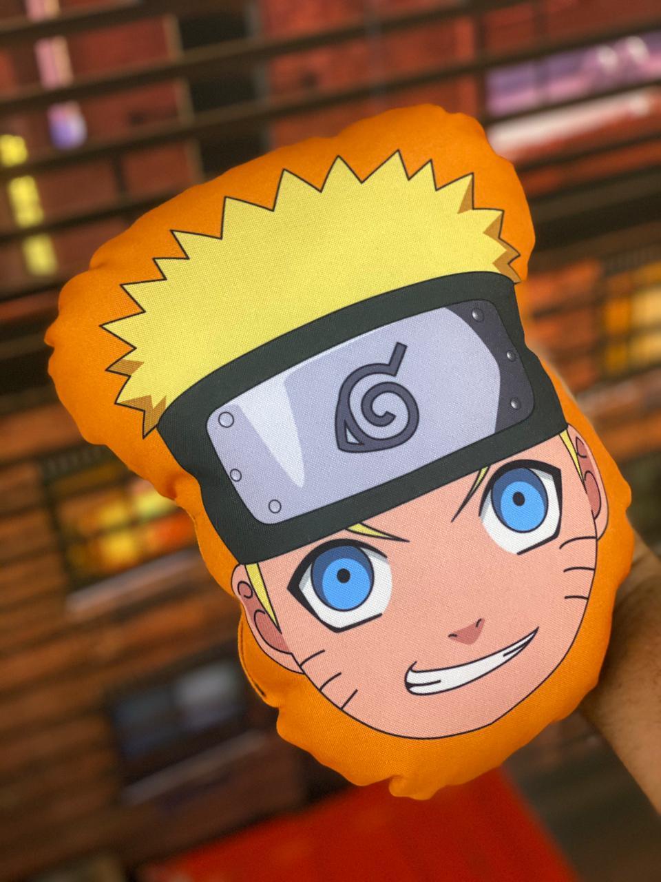 Almofada Rosto Uzumaki Naruto: Naruto Shippuiden Anime Mangá Pequena - EV