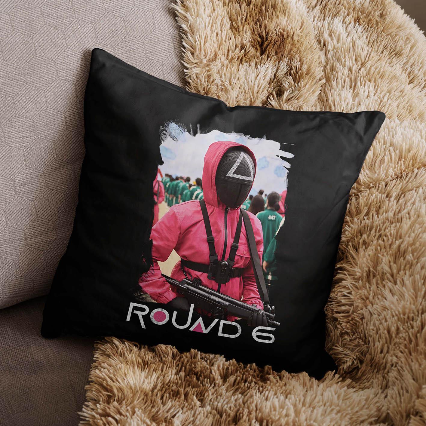 Almofada Round 6 Squid Game Netflix (Preta) - EV