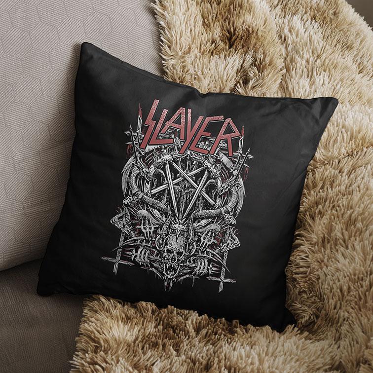 Almofada Slayer Metal Bands Skull (Preta) - EV