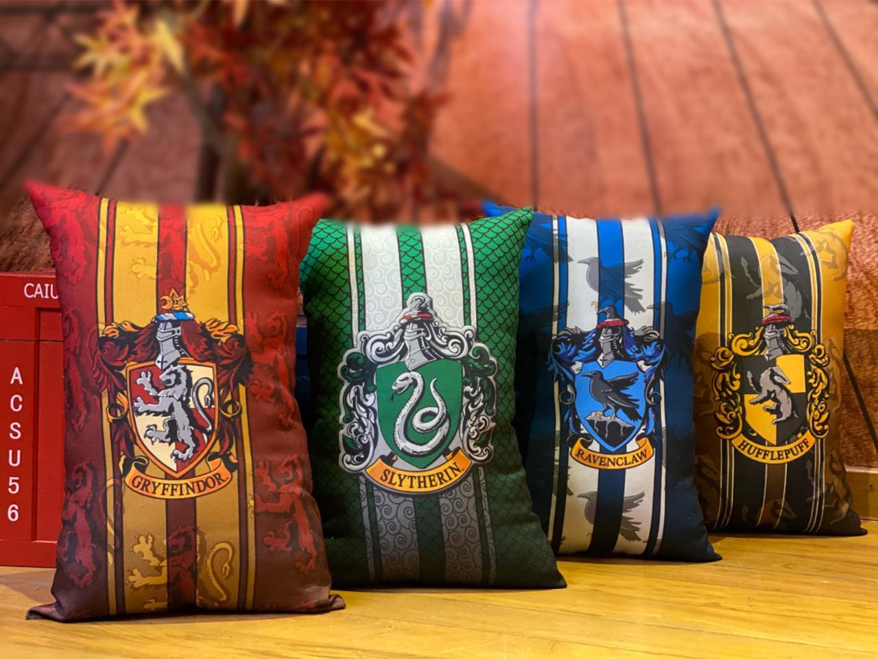 Almofada Sonserina (Slytherin): Harry Potter - EV