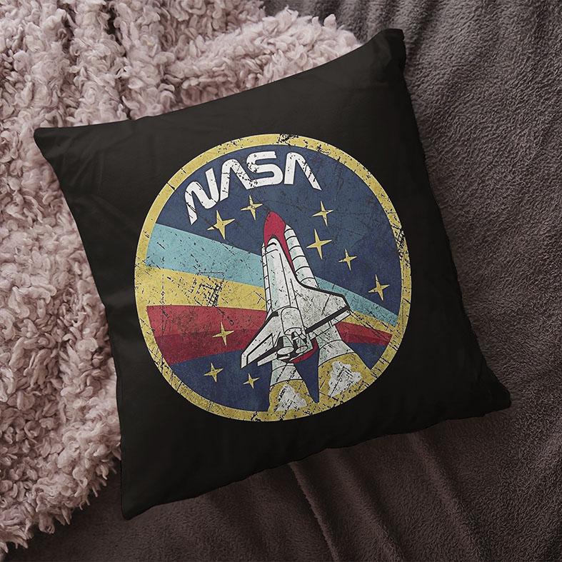 Almofada Space Nasa Espaço Nave (Preta) - EV
