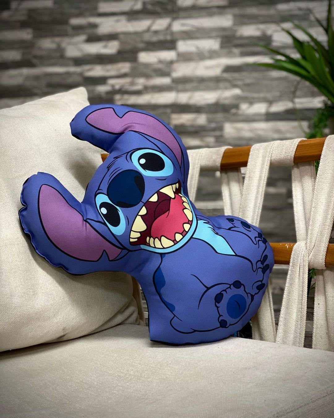 Almofada Stitch: Lilo e Stitch Feliz - Disney - EV