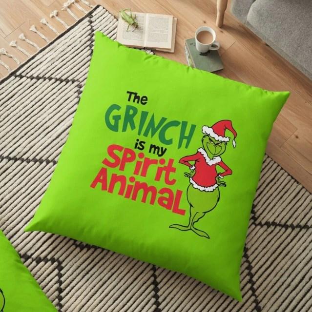 Almofada The Grinch Is My Spirit Animal Natal Christmas: O Grinch - MKP
